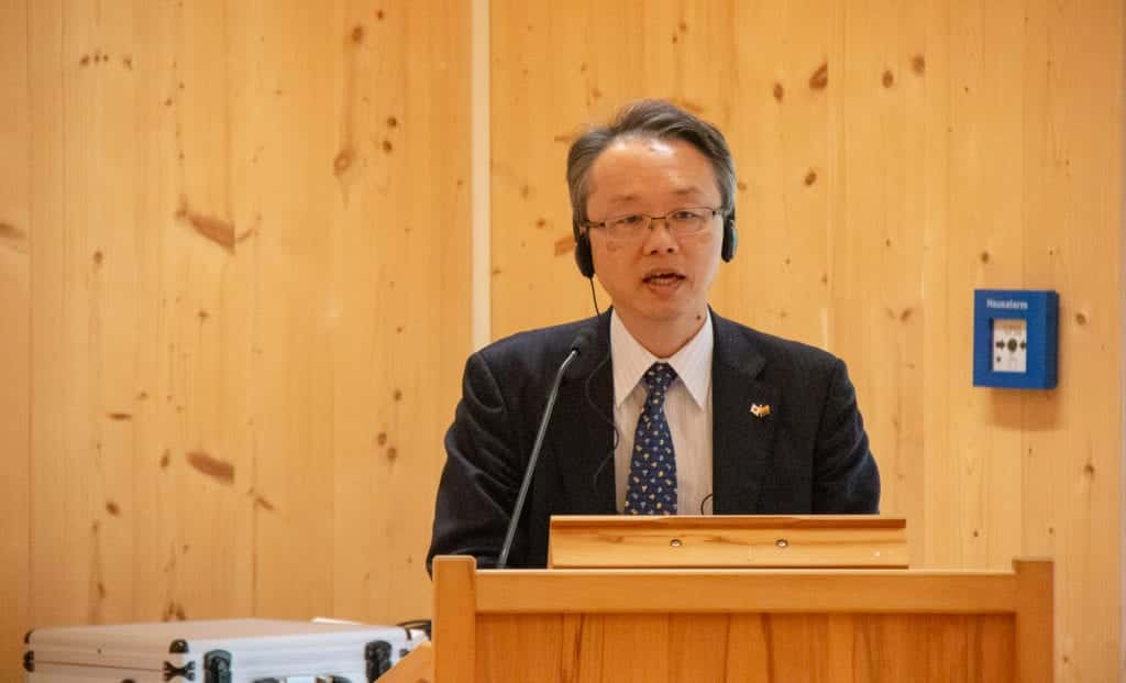 Grußwort der japanischen Delegation durch Herrn Tsuyoshi Watanabe; Director-General; Forest Policy Planning Department; Forestry Agency; Ministry of Agriculture, Forestry and Fisheries (MAFF)