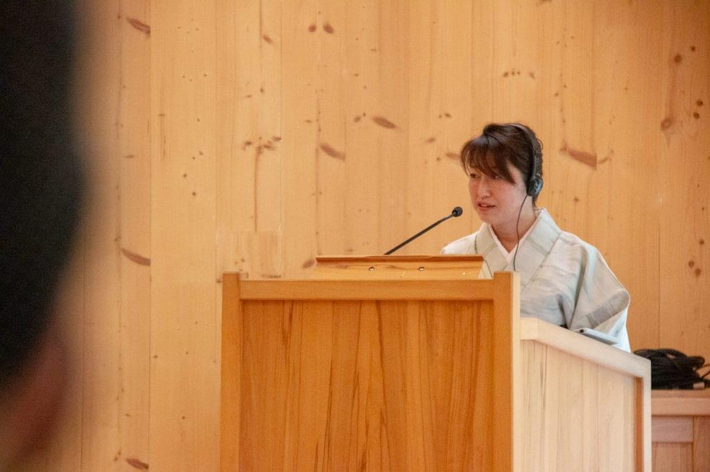 """Vortrag """"Holzbau: Die Situation in Japan sowie gemeinsame Themen in Japan und Deutschland"""" durch Frau Architektin Rieko Uchida; Morizo Architectural Design"""